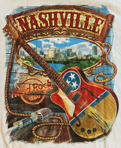Hard-Rock-Cafe-NASHVILLE-2016-City-Tee-White-T-SHIRT-2X-XXL-Men-039-s-New-w-Tags-V17