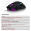 thumbnail 6 - Best-Gaming-Mouse-Seven-Buttons-Optical-USB-Wired-RGB-Amazing-Backlights-Teenage