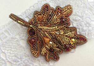 Gift for her beaded brooch pin mom presents