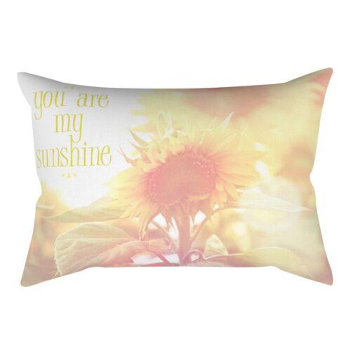 Rectangle Short Plush Throw Pillow Case Bolster Cushion Cover Home Seat Decor