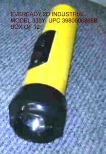 EVEREADY-FLASHLIGHT-2D-INDUSTRIAL-330Y-12-CASE-1-CASE