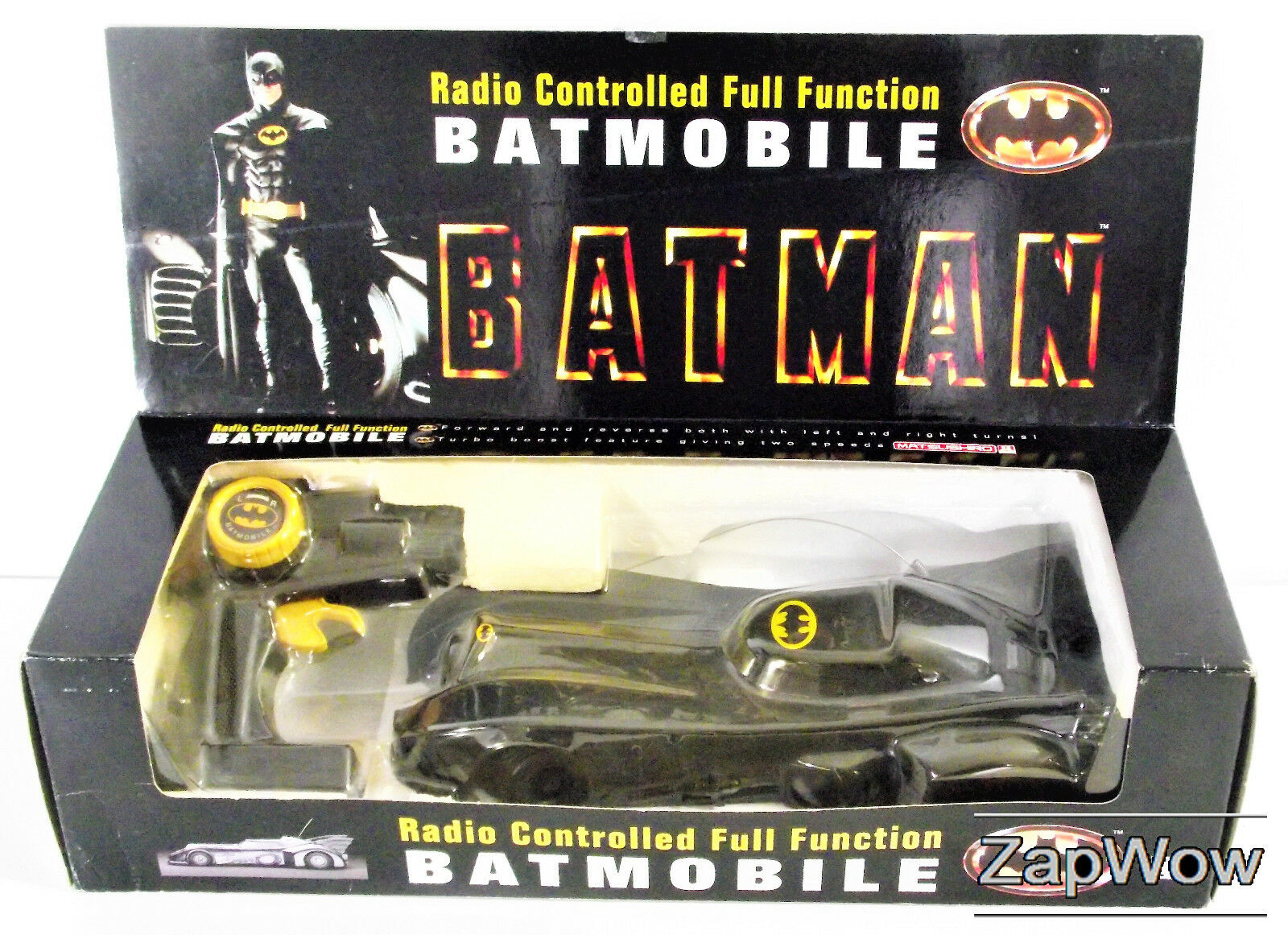 RC BATMOBILE MATSUSHIRO 1989 Batman Radio Controlled Dark KnightCar DC 1980s