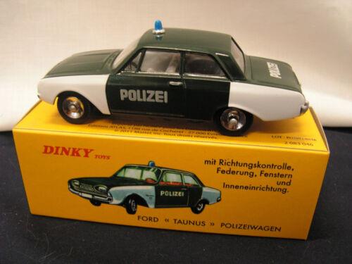 CAR POLIZEIWAGEN DINKY TOYS  ATLAS FORD TAUNUS POLICE DIECAST NOREV 1:43