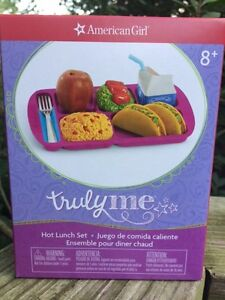 """18/"""" American Girl Tray Plate From Truly Me Hot Lunch Set Dolls Accessories New"""