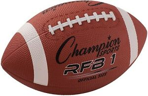 Champion-Sports-All-Surface-Pro-Rubber-Football-Offiziell-Size