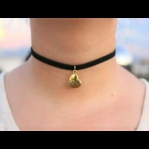 Fashion jewelry black choker necklace Dolphin Pendant Gold Colored Stunning Gift