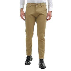 Pantaloni-Uomo-Invernali-Eleganti-Chino-Slim-Fit-Beige-Cotone-Pantalone-Tasca-Am