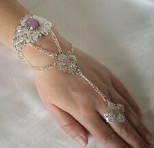 Hand Chain Slave Bracelet, gothic medieval renaissance victorian art nouveau
