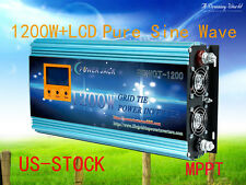 1200W Grid Tie Inverter 102-158VDC/220V AC With LCD Meter & MPPT For Solar Panel