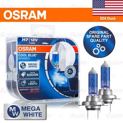477 H7 2X OSRAM COOL BLUE BOOST BULBS 5000K 50/% LIGHT HYPER BLUE 62210CBB-HCB