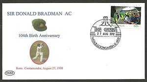 SIR-DONALD-BRADMAN-2012-104th-BIRTHDAY-COVER-GABBA-CRICKET-POSTMARK