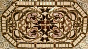 """Original Mosaic Wall Art """" NOUVEAU GRAPHIC"""" Handmade Ceramic Tile Decor"""