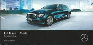 MERCEDES-E-Klasse-S-213-Kombi-Betriebsanleitung-2017-T-Modell-Handbuch-BA