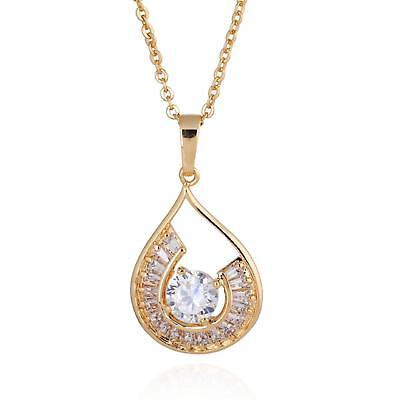 Halsketten & Anhänger Set Damenkette Design Anhänger Zirkonia Weiß 999er Gold 24 Karat Vergoldet A1277 Ein BrüLlender Handel