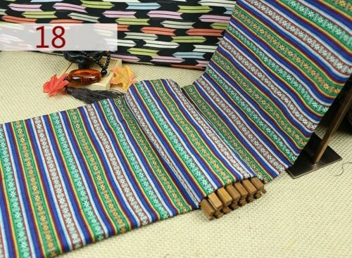 Boho Ethnic Stripe Fabric Clothes Upholstery Curtain Sofa Cushion Throw Pillow