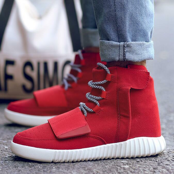 Korean Casual Mens High Tops Lace Up Flat Fashion Trainers Sports Sneaker shoes
