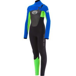 Animal-Lava-Front-Zip-3-2mm-Kids-Wetsuit-Ultra-Violet-Blue