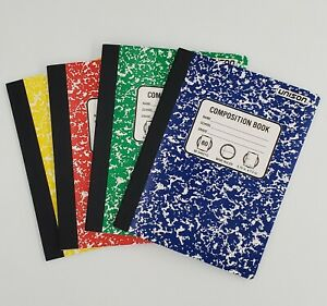 Mini composition book college ruled paper office dairy note books 80 sheet 8pack