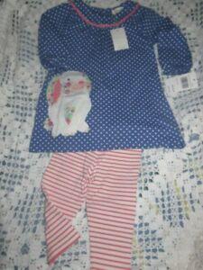 f7d3bc2124500 nwt Mini Boden bunny applique tunic dress legging set baby girl 6 m ...