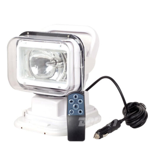 55W Xenon HID Search Work Light Remote Control Rotating Magnetic 12V Boat White