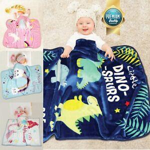 Kids Super Soft Warm Cosy Blanket for Boys & Girls Bed Throw Children Unicorn