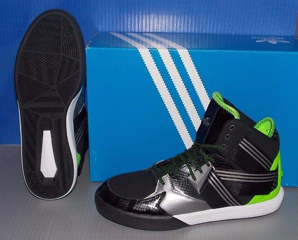 mens adidas c 10 in den farben schwarz ironmt / s c / grüne größe