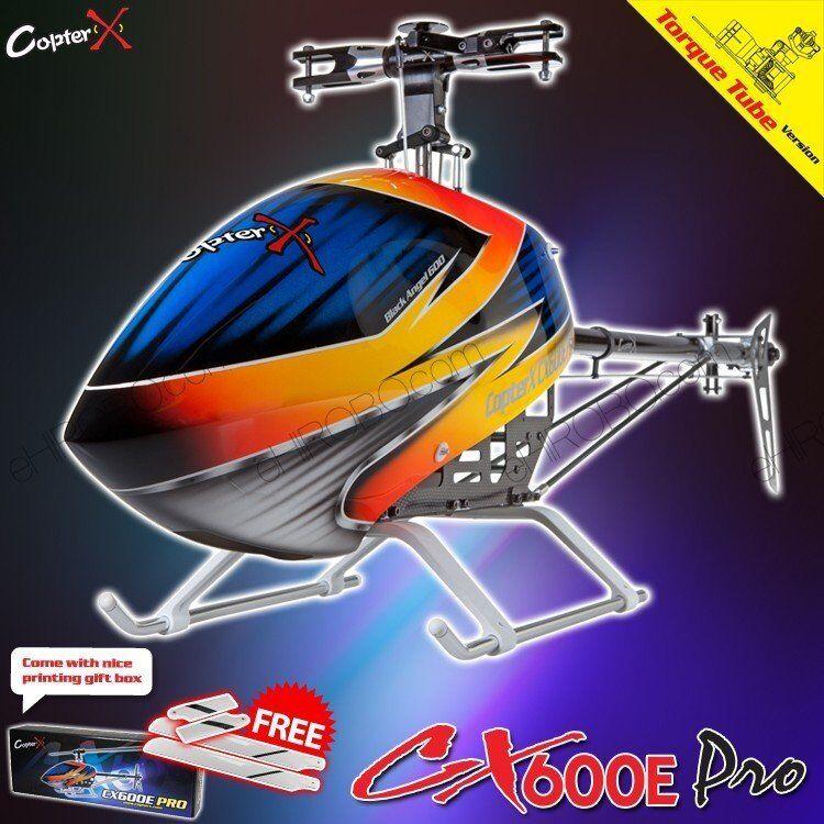 CopterX CX 600 e PRO Flybarless COPPIA TUBO Telecomando Elicottero Kit