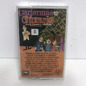 VTG-Christmas-With-The-Chipmunks-Music-Cassette-Tape-Alvin-Simon-Theodore-Sealed