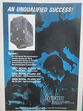 7/1969 PUB HYCON KS-72A AERIAL RECONNAISSANCE CAMERA US AIR FORCE ROYAL FLUSH AD