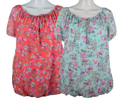 Damen Sommer Bluse  Ballonbluse mit Untertop  Sommer Shirt Oberteil