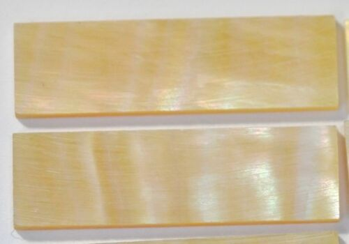 10 Block 30 x 8.5mm x 1.5mm x 1 Inlay Material Gold Mother of Pearl Shell Blanks