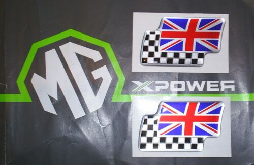 BMW MINI Twin Flag Badges Pair Brand New