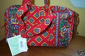 Classic Red Vera Pensionierte Handtasche Villa Bradley xxH08