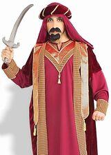 Sultan Costume Mens Adult Arabian Night Aladdin Sheik Shiek Prince Knight - Fast