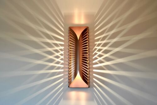Modern Unique Contemporary Handmade Designer Wall Lamp Light RAYS 3 COPPER