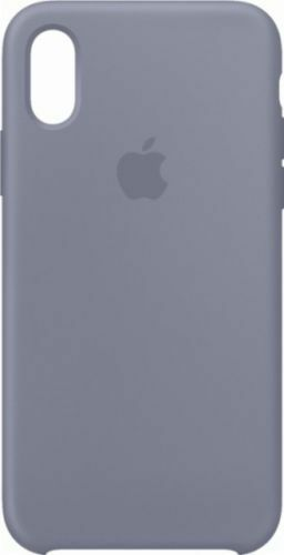 free shipping 2d41c 9836c Lavender Gray 100 Genuine Original Apple Silicone Case for iPhone XS ...