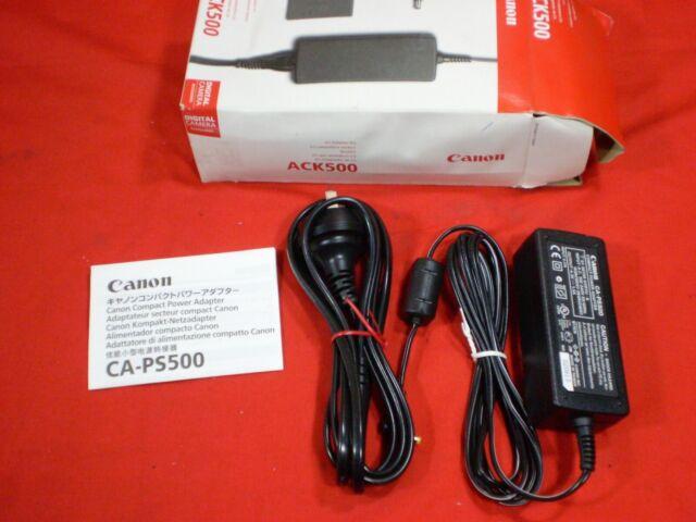 CANON ACK-500 CA-PS500 IXUS POWERSHOT AC POWER ADAPTER ADAPTOR KIT GENUINE