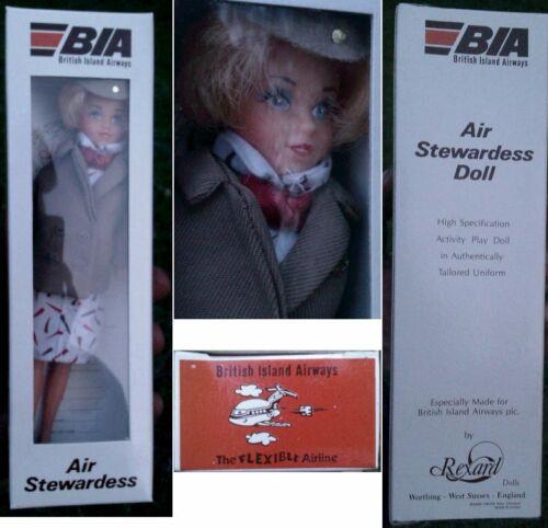 Air stewardess doll rexard British Island Airways BIA Cabin crew Boxed 1970s