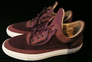 Filling-Pieces-Amsterdam-Men-039-s-Handmade-Sneakers-shoes-red-maroon-US-16-EU50