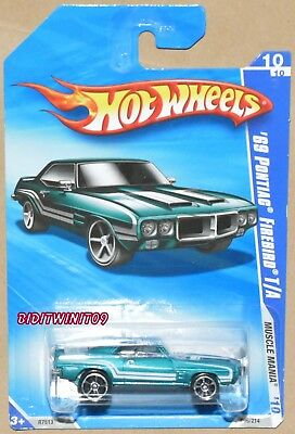 HOT WHEELS 2010 MUSCLE MANIA /'69 PONTIAC FIREBIRD T//A BLACK #088 FACTORY SEALED
