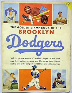 1955 Golden Book Brooklyn Dodgers (mounted stamps) VG 624086