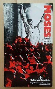 Moses programme ENO English National Opera 1986 John Tomlinson Ethna Robinson