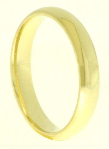 Einzelner Verlobungsring Ehering Trauring 585 Gold 14k Gelbgold Massiv 3,5 mm br