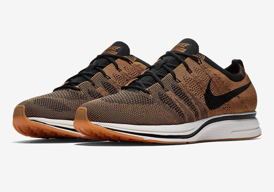 Nike Air Flyknit Trainer SZ 8.5 Golden Beige AH8396-203 Noir Gum Light Brown AH8396-203 Beige f61e24
