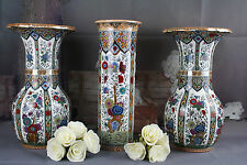 DELFT Polychrome Pottery set Vases center vase piece PETRUS REGOUT marked