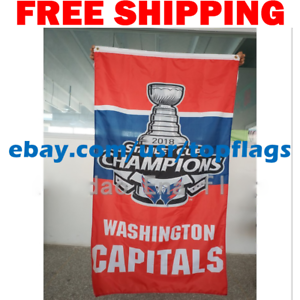 Washington-Capitals-Stanley-Cup-Champions-Flag-Banner-3x5-ft-2018-NHL-Hockey-NEW