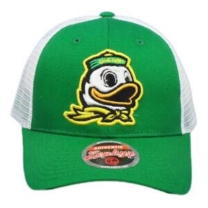 NCAA-Zephyr-Oregon-Ducks-Camionista-Rete-Verde-Bianco-Snapback-Cappello-Bicolore