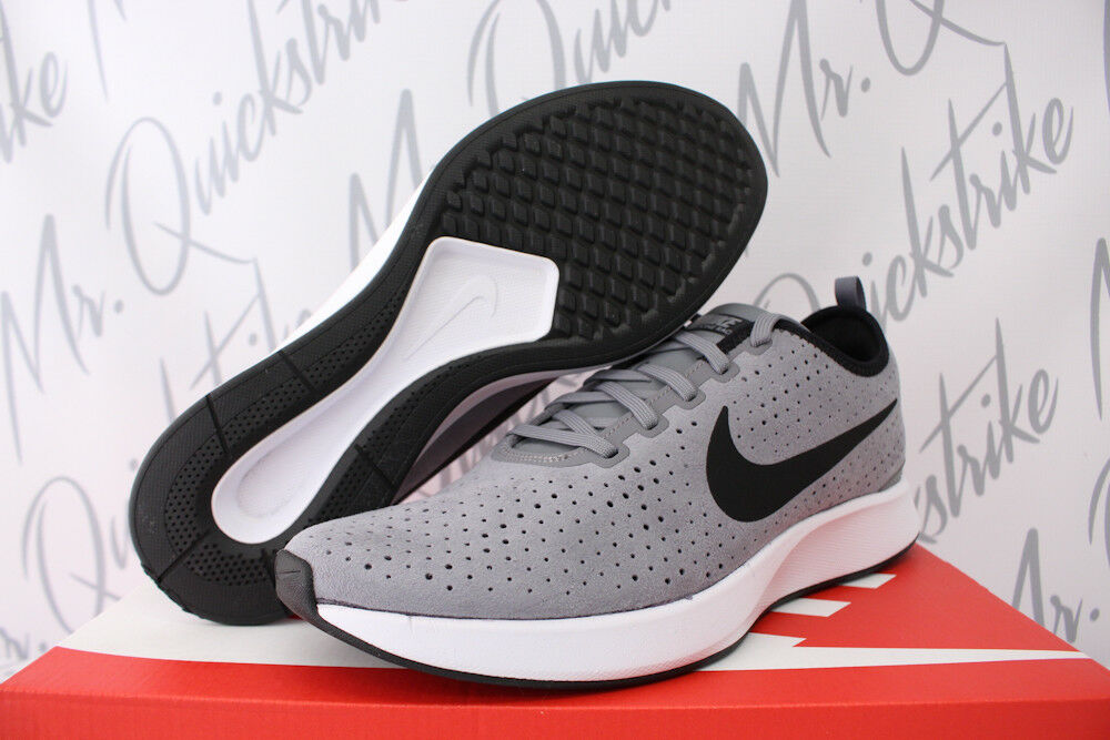 NIKE RUNNING DUALTONE RACER SZ 10.5 RUNNING NIKE SHOE BLACK WHITE PALE GREY 924448 001 724986