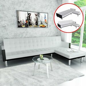 Image Is Loading Vidaxl White Sofa Day Bed Lounge Suite Chaise