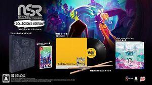 No Straight Roads Collector's Edition Nintendo Switch  LP art book drum stick